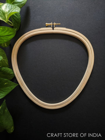 Triangle Wooden Embroidery Hoop (Brass Hook)