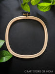 Square Wooden Embroidery Hoop (Brass Hook)