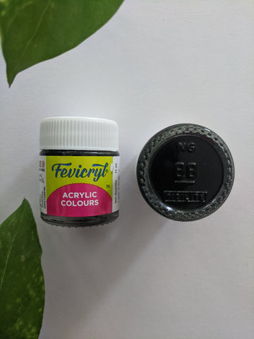 Black - Fevicryl Acrylic Colour