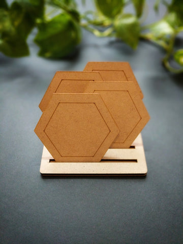 Coaster Stand MDF Base (For 6 Coasters)