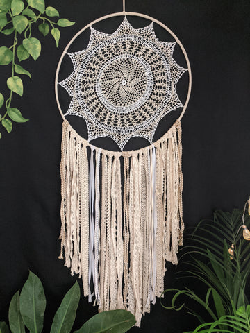 Magnificent White Dreamcatcher