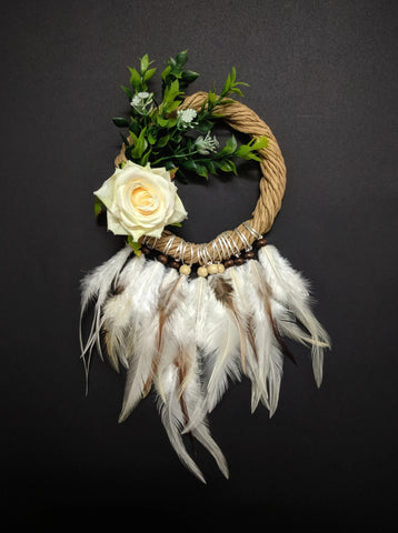 White Rose Dreamcatcher