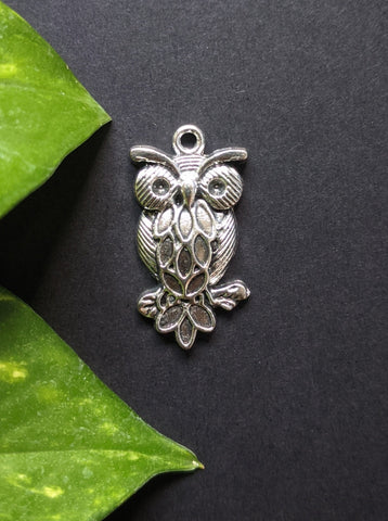Night Owl Metal Charm (Pack of 5)