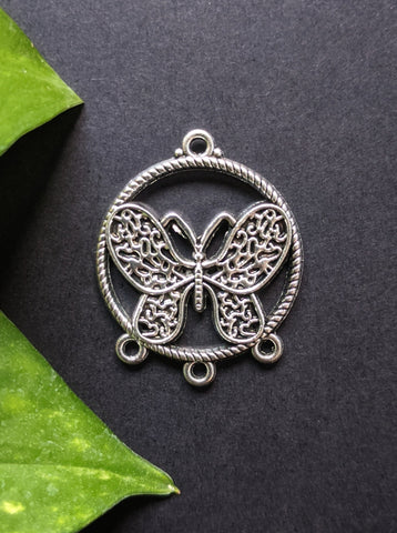 Angel Butterfly Metal Charm (Pack of 5)
