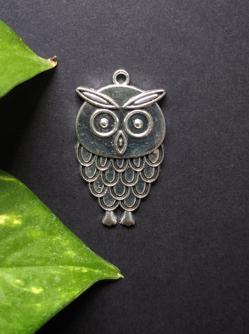 Small Owl Metal Charm (Pack of 5)
