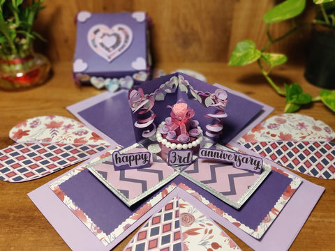 Violet Bloom Explosion Card
