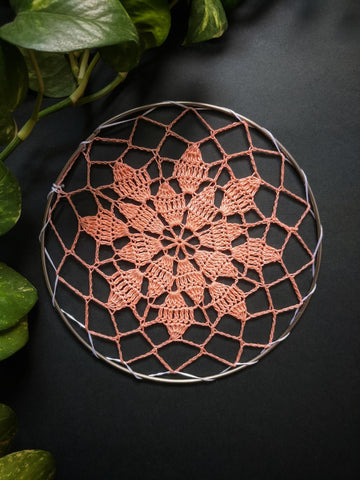 "5"" inches Peach Doily"