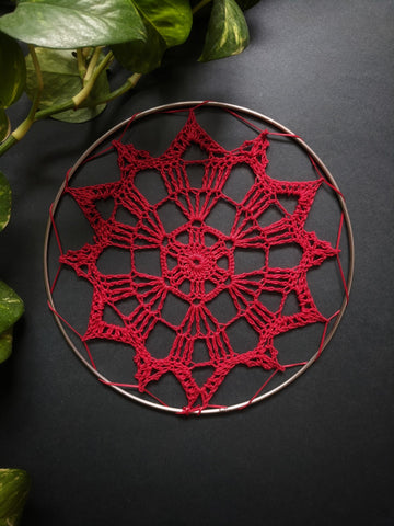 "5"" inches Red Doily"