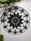 "6.5"" inches Black Doily"