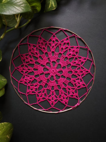 "6.5"" inches Pink Doily"