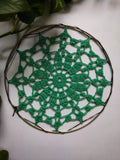 "6.5"" inches Sea Green Doily"