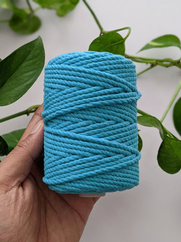 Baby Blue - 4mm Twisted Macrame Thread
