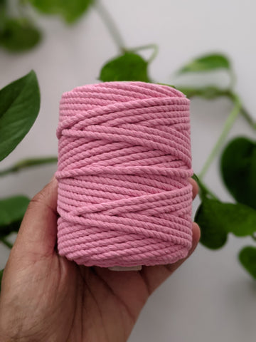 Baby Pink - 4mm Twisted Macrame Thread