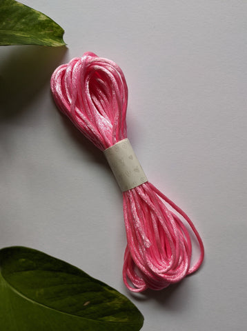 Baby Pink - Rattail Satin Cord