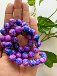 Berry 15mm Textured Beads (45 beads)
