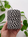 Black and White - 4mm Twisted Macrame Thread