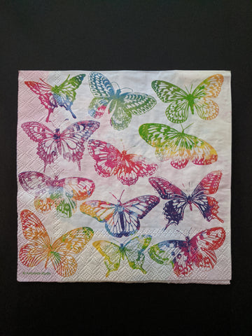Colourful Butterflies - Decoupage Napkin