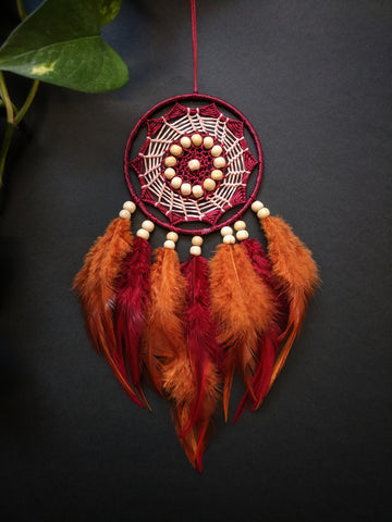 Fiery Red Dreamcatcher