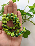 Forest 15mm Textured Beads (45 beads)