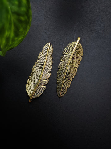 Feather Metal Charm (Pack of 2)