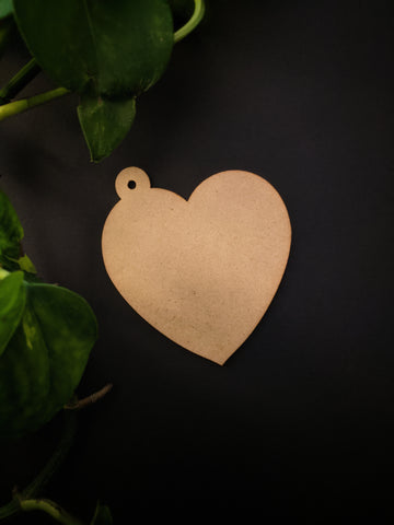 Heart Keychain MDF Base