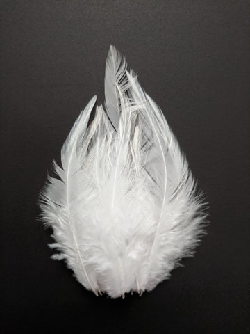 White - Long Pointed Natural Feathers (100 Pieces)