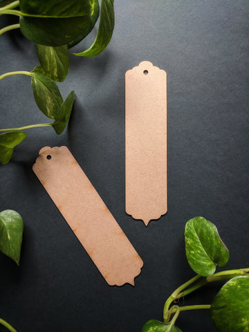 Bookmark MDF Base - Design 1 (Pack of 2)