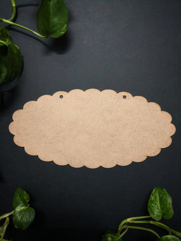 Scallop Plaque MDF Base