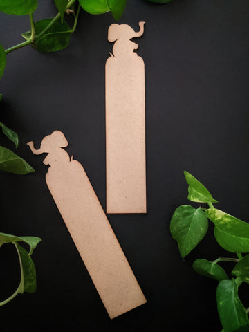 Elephant Bookmark MDF Base (Pack of 2)