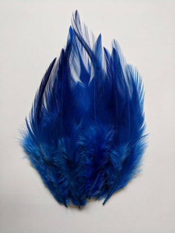 Ink Blue - Long Pointed Natural Feathers (100 Pieces)