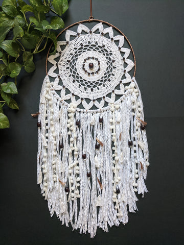Ivory White Dreamcatcher