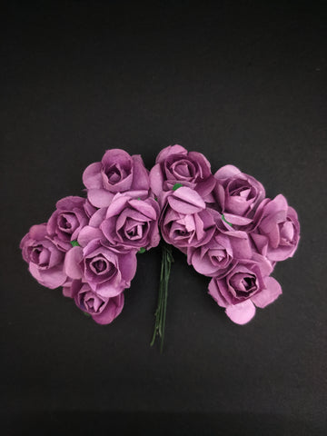 Lavender Paper Flowers - Pack of 12