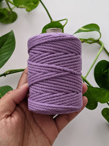 Lavender - 4mm Twisted Macrame Thread