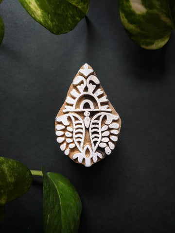 Leaf Print Wooden Block-01