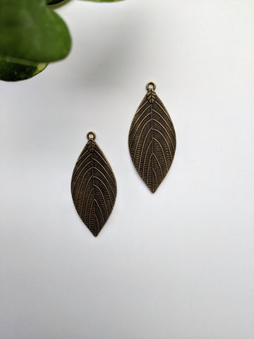 Leaf Metal Charm (Pack of 2)
