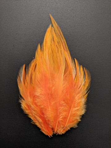 Light Orange - Long Pointed Natural Feathers (100 Pieces)