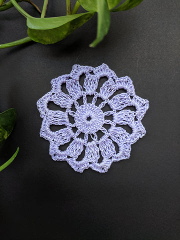 "3.5"" inches Light Purple Doily"
