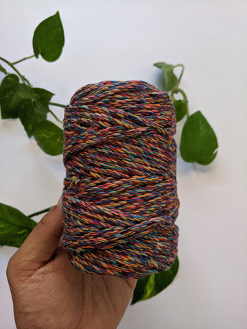 Multicolour - 4mm Twisted Macrame Thread