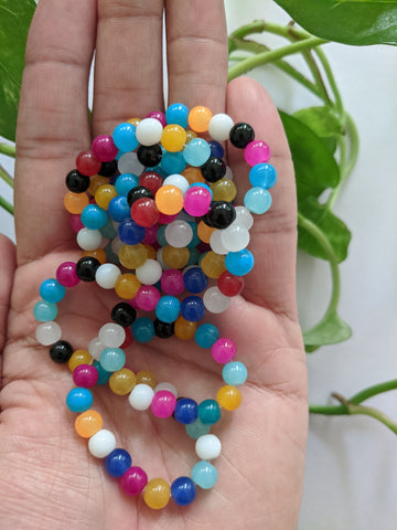Multicolour 6mm Glass Beads (140 beads)