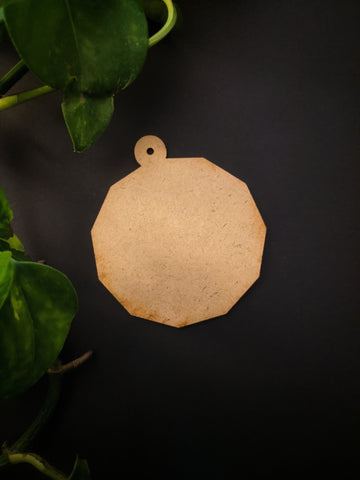 Octagon Keychain MDF Base