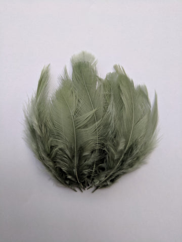 Olive Green - Chicken Feathers