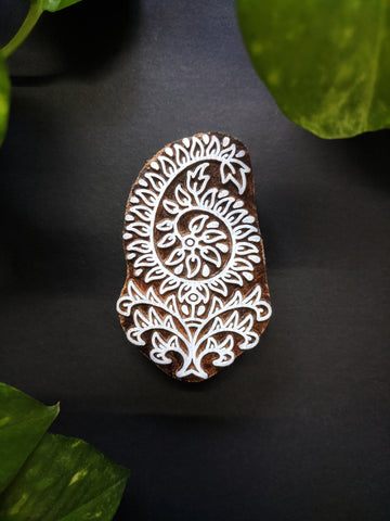 Paisley Leaf Wooden Block