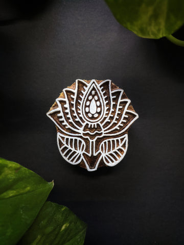 Small Lotus Wooden Block