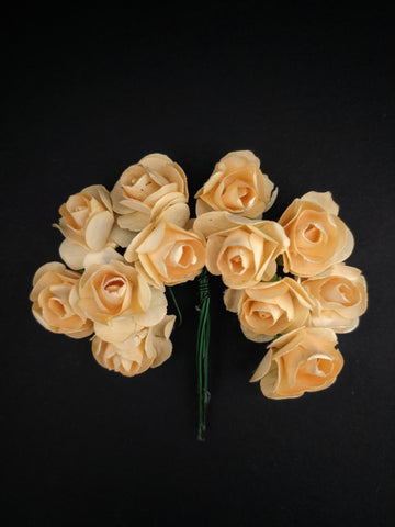 Peach Paper Flowers - Pack of 12