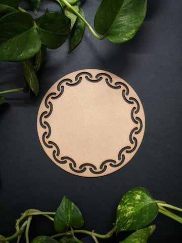 Round Platter Placemat MDF Base