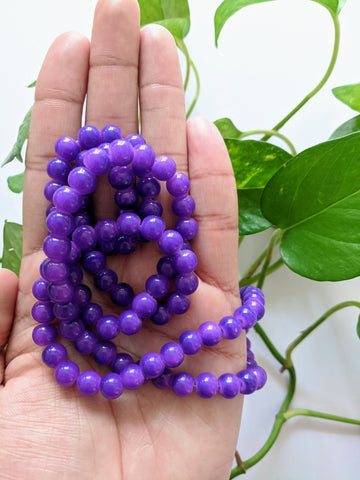 Purple 8mm Glass Beads (100 beads)