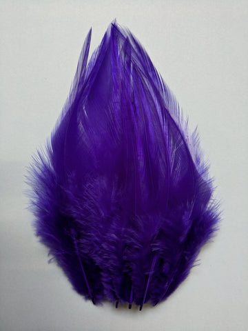 Purple - Long Pointed Natural Feathers (100 Pieces)