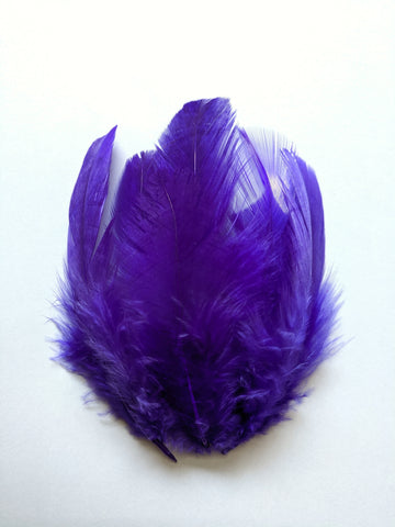 Purple - Natural Small Feathers (100 Pieces)