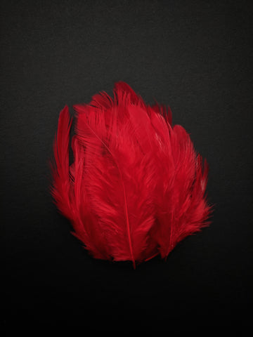 Red - Natural Small Feathers (100 Pieces)
