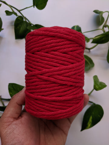 Red - 4mm Single Strand Macrame Thread